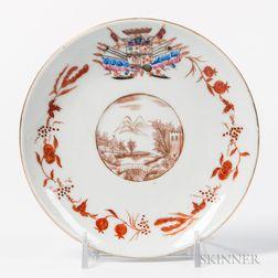Armorial Export Porcelain Saucer