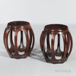 Pair of Wood Stools