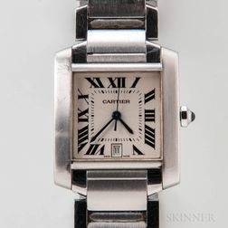 Cartier Stainless Steel Men's Reference 2302 Wristwatch