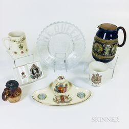 Seven British Commemorative Items