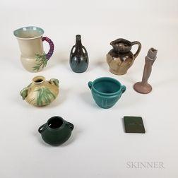 Eight Pieces of Studio Pottery