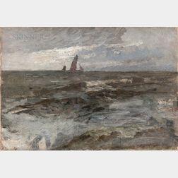 Eugène Laurent Vail (American/French, 1857-1934)      Étude Berck Plage