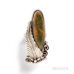 Vintage Navajo Sterling Silver and Hardstone Ring