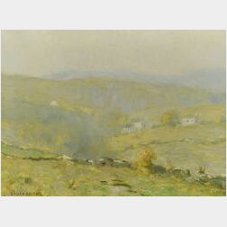 Bruce Crane (American, 1857-1937)  The Farthest Hills