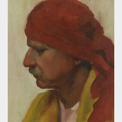American School, 20th Century  Portrait of a man/Possibly Bruce Crane