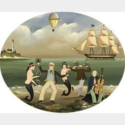 Ralph Cahoon (American, 1910-1982)  Sailors Shore Leave