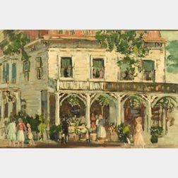 Gifford Beal (American, 1879-1956)  Rockport Market