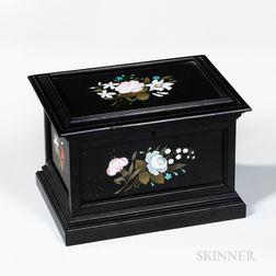 Pietra Dura and Ebonized Wood Box