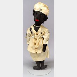 "Black Cloth ""Sister of the Eastern Star"" Doll"
