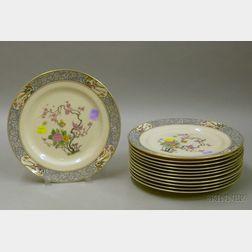 Set of Twelve Lenox Ming Pattern Porcelain Dinner Plates.