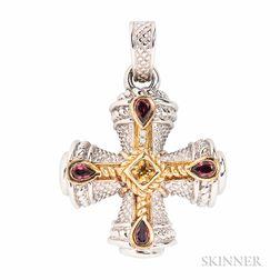 Sterling Silver Pendant, Judith Ripka