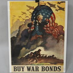 N.C. Wyeth U.S. WWII Buy War Bonds   Lithograph Poster