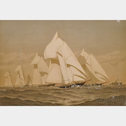 Frederic S. Cozzens (American, 19th Century),   Charles Scribner's Sons, publishers (New York, 19th Century)    AMERICAN YACHTS