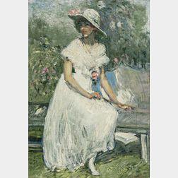 Clara D. Davidson (American, 1874-1962)    The Pink Camellias