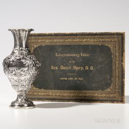 Silver Vase Presented to Reverend Daniel Sharp, D.D.