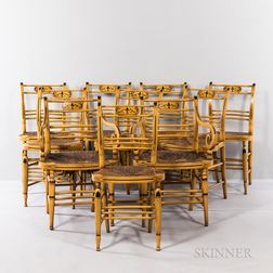 Ten Yellow-painted Fancy Chairs