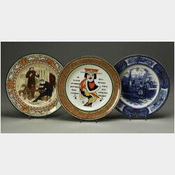 Six Wedgwood Transfer Printed Plates
