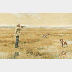 Arthur Burdett Frost (American, 1851-1928)  Out Shooting