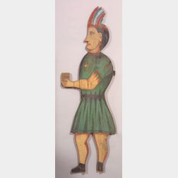 Polychrome Painted Pine Tobacconist Figure