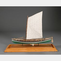 Scratch-built Wooden Ship Model of a New Bedford Whaleboat