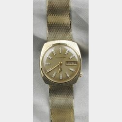 "14kt Gold and Diamond ""Accutron"" Wristwatch, Bulova"