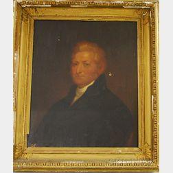 Framed Color Portrait Print Depicting Lt. Elisha Whitney