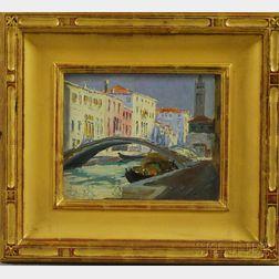Caleb Arnold Slade (American, 1882-1961)      Mid Day, Venice