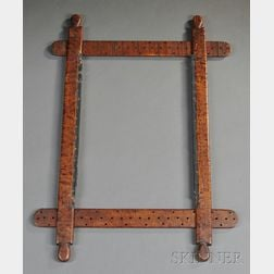 Hand-carved Bird's-eye and Tiger Maple Embroidery Frame