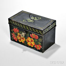 Paint-decorated Tin Document Box