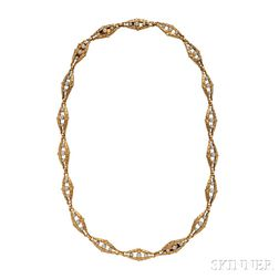 Edwardian 18kt Gold and Pearl Convertible Suite
