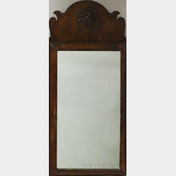Queen Anne Pierced Walnut Veneer Mirror
