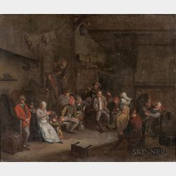 Manner of David Teniers the Younger (Dutch, 1610-1690)      Animated Tavern Scene