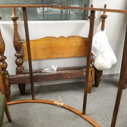 Federal Turned Maple and Pine Canopy Bed