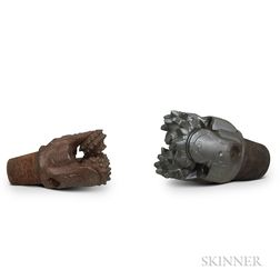 Two Large Drill Heads or Bits