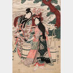 Utamaro Woodblock Print