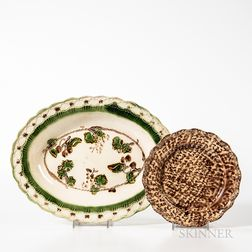 Two Staffordshire Molded Plates