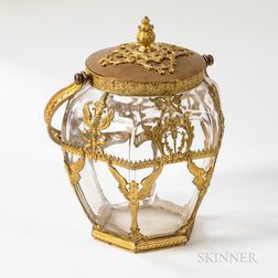 Napoleon III Gilt-bronze-mounted Glass Biscuit Jar and Cover