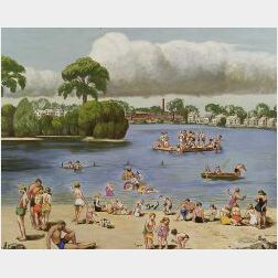 Lawrence McCoy (American, b. 1888)  Coes Pond  , Worcester, Massachusetts