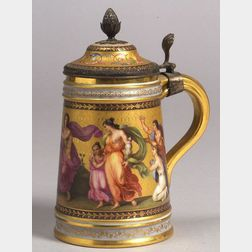 Vienna Painted Porcelain Tankard