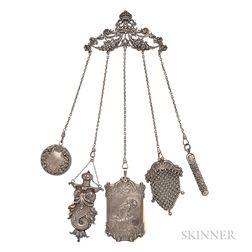 Art Nouveau Sterling Silver Chatelaine, William B. Kerr & Co.