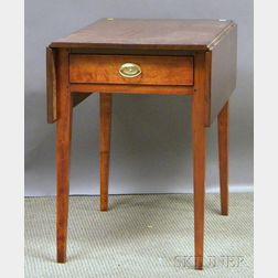 Birch Drop-leaf Pembroke Table with End Drawer