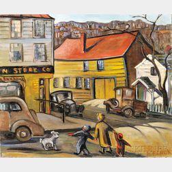 Hazel Finck (American, 1894-1977)      Blacksmith Shop