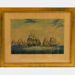 W.J. Huggins, publisher (London, 19th century)    The Honourable East India Company Ship, INGLIS.