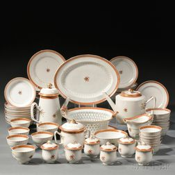 Chinese Export Porcelain Partial Tea and Coffee Service