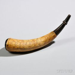 Identified Brimfield Powder Horn