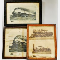Three Framed Railroad Prints