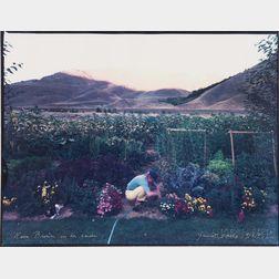 Mark Klett (American, b. 1952)      Kem Brown in Her Garden, Gimlet, Idaho