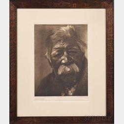 Original Edward S. Curtis Framed Photogravure on Tissue Paper