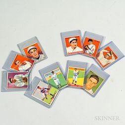 Ten 1933 Goudey Gum Baseball Cards