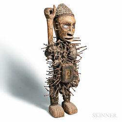 Solongo-style Nkisi Nkondi Power Figure
